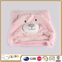 BSCI SEDEX Disney Audited manufacturer baby blanket animal head baby blanket at target