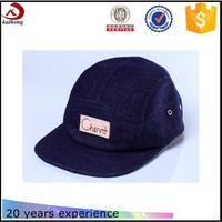custom blue denim 5 panel hats for men