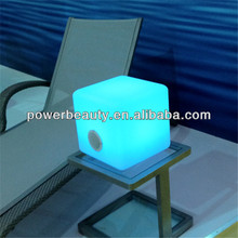 led lighted up mini cube bluetooth speaker with remote control