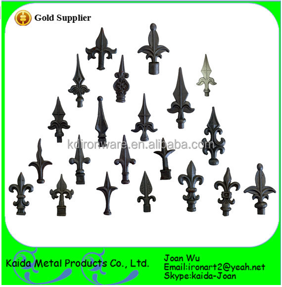 Cheap & Beautiful Wrought Iron Gate/fence Spear Points