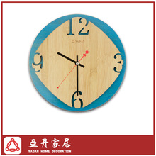 Bamboo silence decorative wall hanging clock