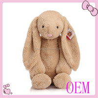 Meet EN71 and ASTM standard ICTI plush toy factory long ear stuffed plush bunny