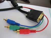 hot sale VGA to 3RCA Cable, AV to VGA, Vidio Cable
