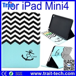2015 Factory Price Case for iPad Mini 4 , for iPad Mini 4 Leather Case, for iPad Mini 4 Flip Case