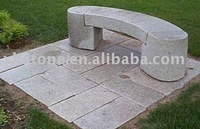 outdoor polished S shape stone bench, garden double seats long stone bench