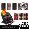 Cosmetic distributor 8layer branded eyeshadow makeup palettes free sample