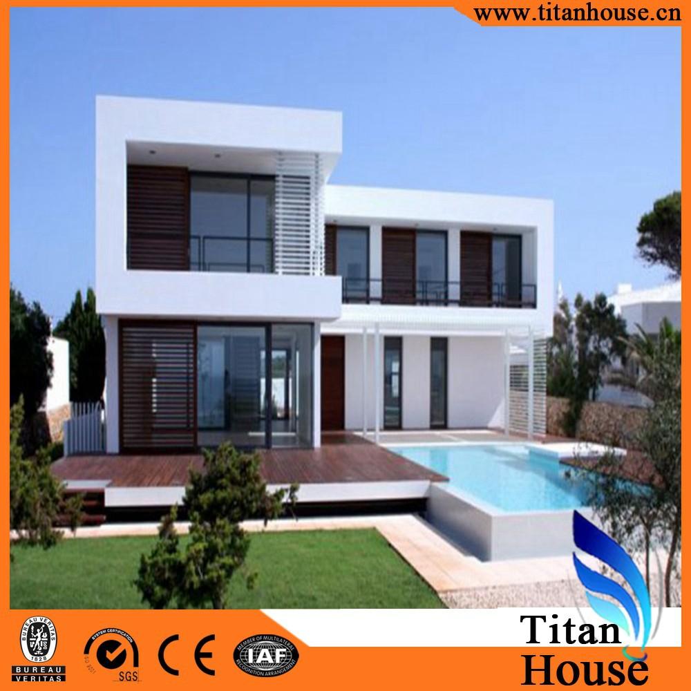 Due piani di lusso design leggero telaio in acciaio casa for Piani di hot house