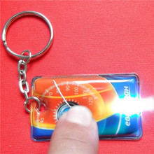 best selling products promotional pvc led key chain with custom logo