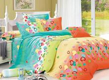 peacock blue orange light green lovely heats desigds Bedding Sets Made in China