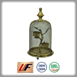 Quality Assured Oem Production Simple Style Cage Shape Hanging Christmas Lantern