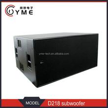 Dual 18'' subwoofer box,professional d&b b2 subwoofer
