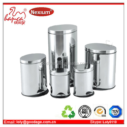 Foot Pedal Feature Household Usage Stainless Steel Dustbin Supplier With BSCI &Wal-mart Factory Report