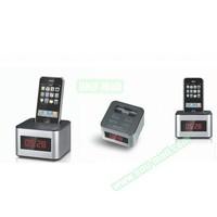 6 inch Portable LED Alarm Clock Radio Docking Station for iPhone 5 etc
