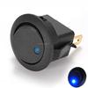 New 10pcs Blue 12V LED Dot Light Car Auto Boat Round Rocker 2 Pin ON-OFF SPST Switch