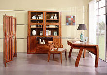 High taste of home office room Wooden Computer Desk with bookcase