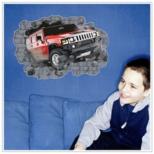 car kids room 3d wallpapers/3D wall decoration/3D wall stickers for home decoration