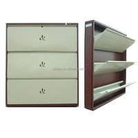 Fashion Shoes Cabinet mdf 5 Layers Beautiful Bench Shoes Cupboard with mirror Steel Shoe Chest