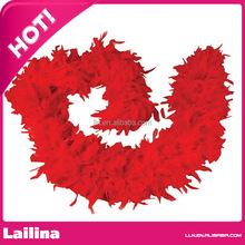 Red Turkey Feather Boa /Feather Turkey Flat Chandelle Boa /Turkey Boa for Chandelle Decoration