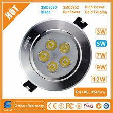 Blade Recessed 5W LED Ceiling Lamp/Downlight