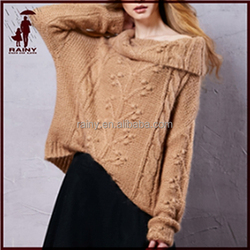 factory direct knitting patterns bat sleeve winter sweater for women