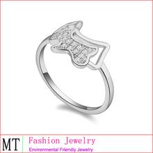 la muestra anillos de compromiso cz anillo de servilleta de cristal de diamante