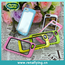 Hot selling mobile phone accessories tpu rubber soft rim bumper for iPhone 5