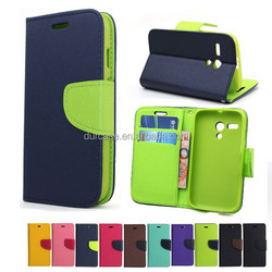 Book Style Phone Case for LG G3 mini,Fancy Dual Colour Leather Case for LG G3 mini