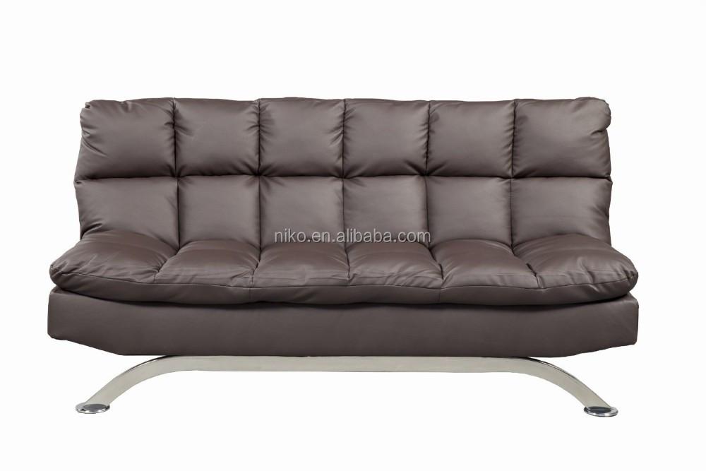 Modern New Design Folding Leather Futon Sofa Bed For Living Room Furniture Mk