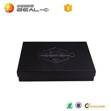 Customized for USA foam insert matt rigid black paper design cloth shirt packaging box