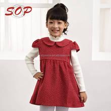 Kids clothes girls fancy short sleeve polka dot christmas dresses