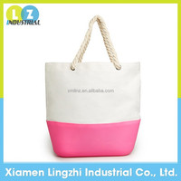 2015 hot selling designer Cheap silicone canvas beach tote bag