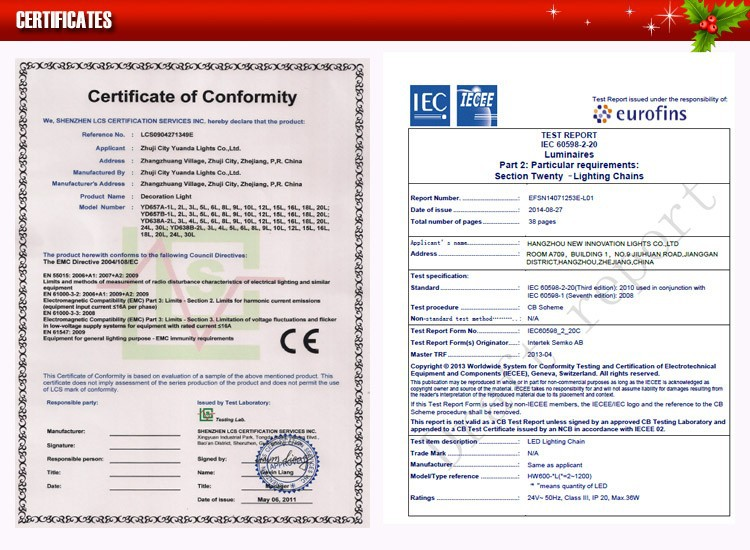 Certificates and bar 750 3