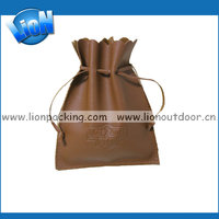 pretty high quality leather drawstring pouch for jewelry