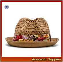 AL356/Fashion Ladies Summer Beach Sun Hat Straw panama hat