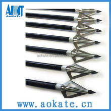 silver color three blades 100GR hunting broadheads also could used for archery bow and crossbow arrow heads