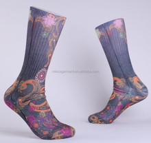 High quality sublimated socks calf high socks custom mid calf socks