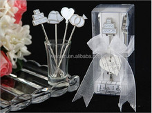 wedding favors --I Do, I Do Hors d'oeuvre Pick sstainless steel fruit forks (set of 4 picks)