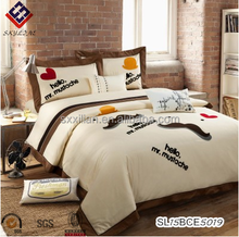 Cotton paste embroidered Satin cotton bedding USA hot selling boys and girls children