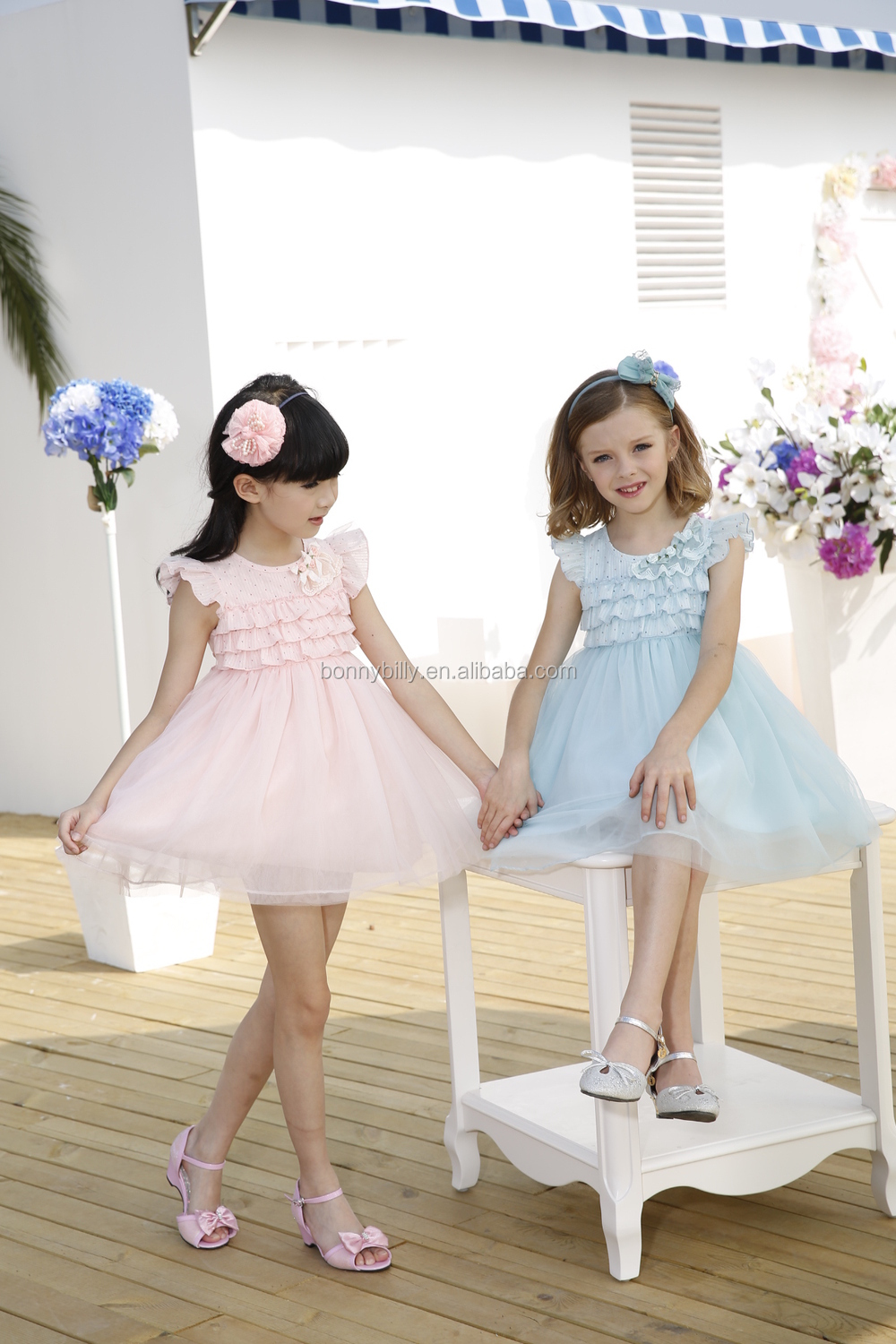 New Design Lovely Baby Dress Chiffon Kind Girls Summer