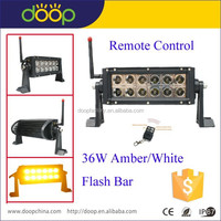 Factory Wholesale! 7.5inch 36W remote control amber white flash led light bar with CE ROHS IP67