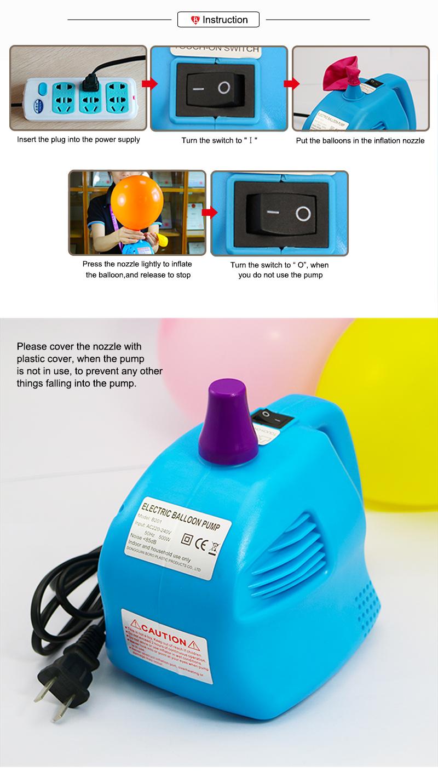 Party Decoration Mini Electric Balloon Inflator Air Pump B201 Buy Pompa Balon Elektrik Listrik 6