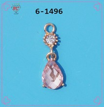 Resin and crystal zinc alloy pendant for underwear , underwear accessories