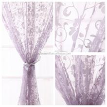 2015 Different Kind Of Flocking Pattern Organza Curtain Fabric Silk