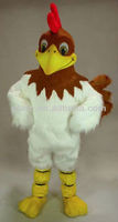 cute white stuffed chicken mascot costume/ lifelike plush farm animal, chicken costume