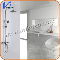 Ewin 2015 Luxury Rain Shower Set Contemporary Single Handle Brass Chrome Bath Shower Mixer Tap