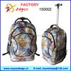 600D printing backpack with laptop pocket trolley backpack zoyee