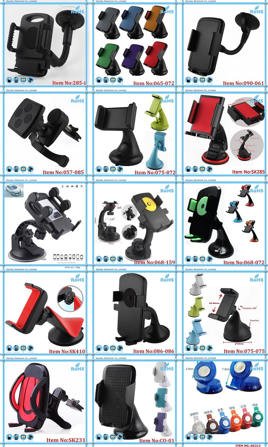 SK238# car mount kit 3in1 windshield mount +air vent mount for mobile phone holder car mount car phone holder