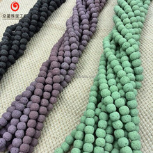 New Arrivals Gemstone Multicolor Lava Rock Round Beads Various Sizes Competitive Price
