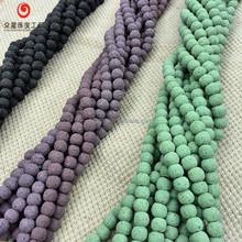 New Arrivals Gemstone Round Beads Various Sizes Multi color Lava Stone Bracelet