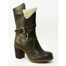 2015 new High Lady Boots with Belt and Buckle